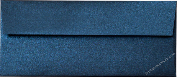 "#10 Dark Blue Metallic Envelopes (4 1/8"" x 9 1/2"") - Paperandmore.com"