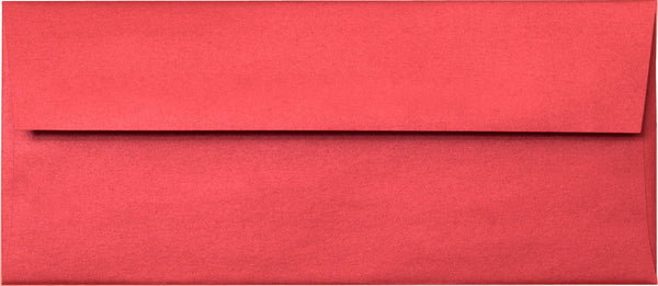 "#10 Jupiter Red Metallic Envelopes (4 1/8"" x 9 1/2"") - Paperandmore.com"