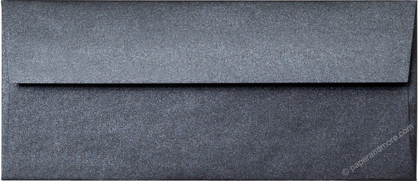 "#10 Onyx Black Metallic Envelopes (4 1/8"" x 9 1/2"") - Paperandmore.com"