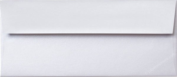 "#10 Pearl White Metallic Envelopes (4 1/8"" x 9 1/2"") - Paperandmore.com"