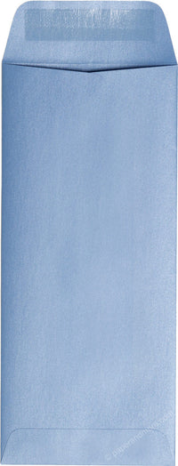 "#10 Policy Blue Vista Metallic Envelopes (4 1/8"" x 9 1/2"")"