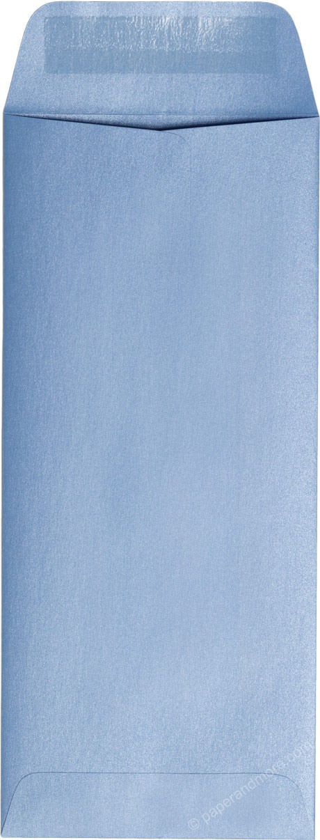 "#10 Policy Blue Vista Metallic Envelopes (4 1/8"" x 9 1/2"") - Paperandmore.com"