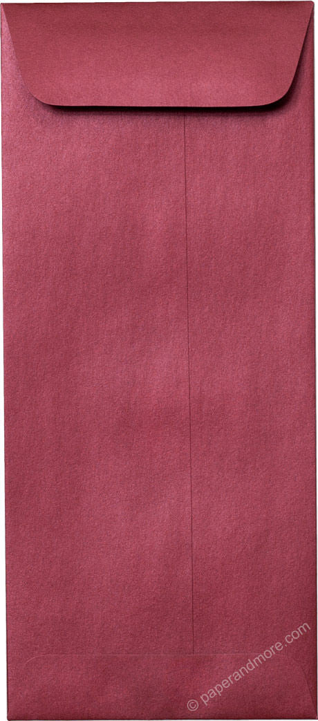 "#10 Policy Crimson Red Metallic Envelopes (4 1/8"" x 9 1/2"") - Paperandmore.com"