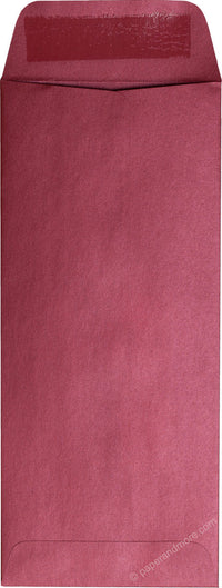 "#10 Policy Crimson Red Metallic Envelopes (4 1/8"" x 9 1/2"")"