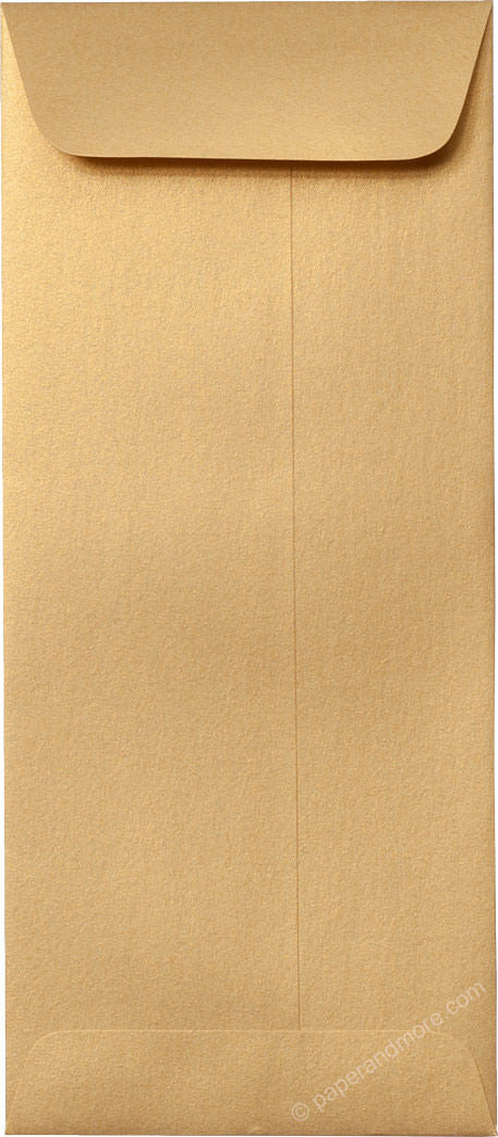 "#10 Policy Gold Metallic Envelopes (4 1/8"" x 9 1/2"") - Paperandmore.com"