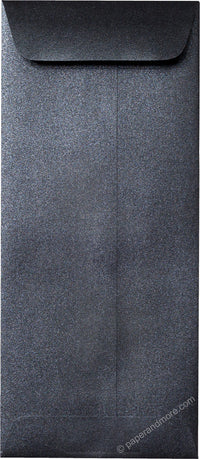 "#10 Policy Onyx Black Metallic Envelopes (4 1/8"" x 9 1/2"") - Paperandmore.com"