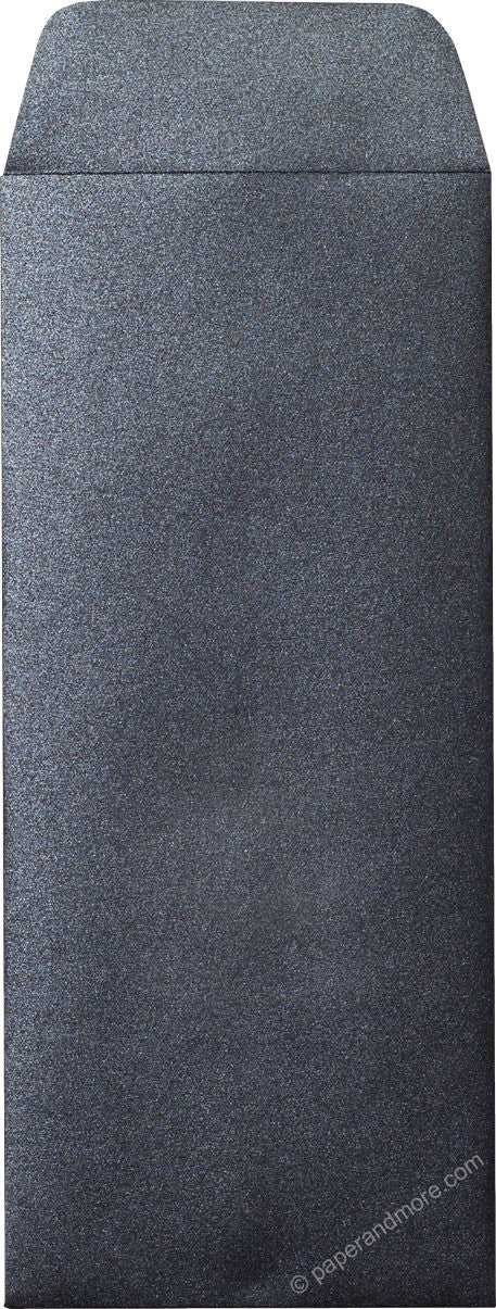 "#10 Policy Onyx Black Metallic Envelopes (4 1/8"" x 9 1/2"")"