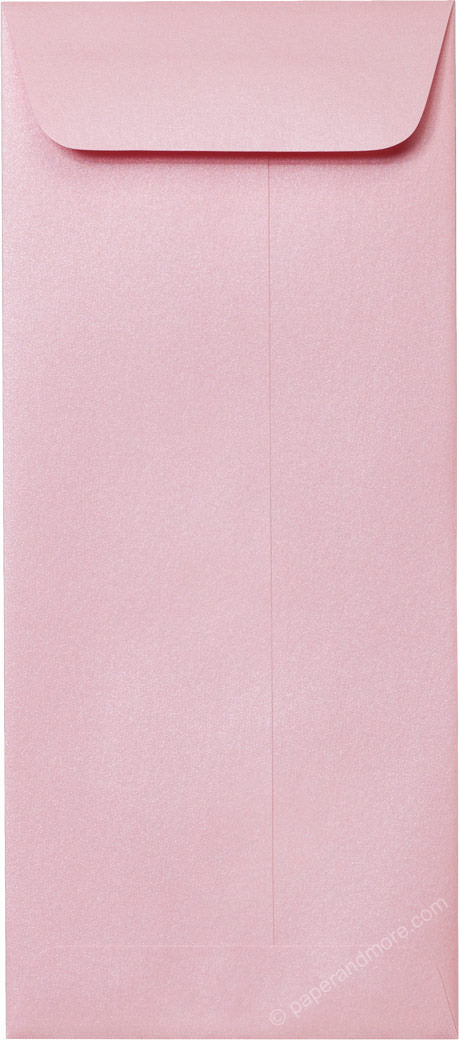 #10 Policy Rose Pink Metallic Envelopes (4 1/8