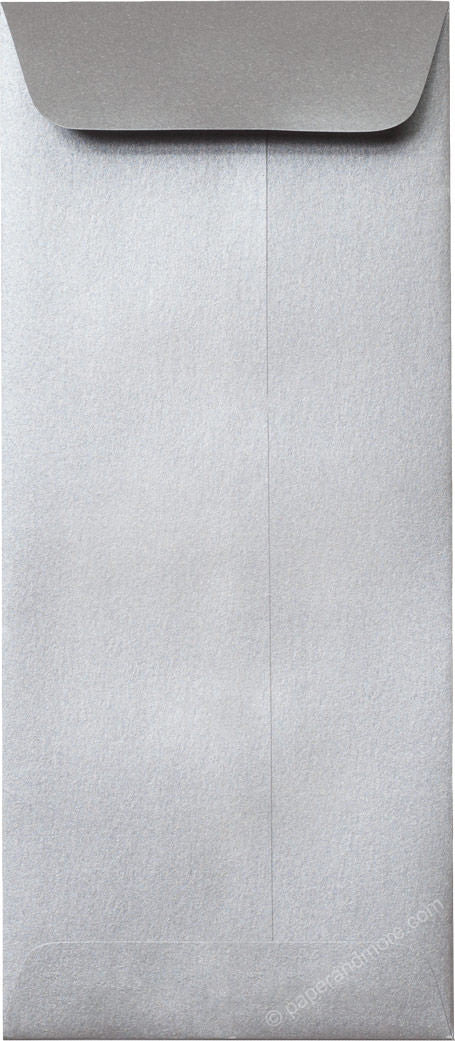 "#10 Policy Silver Metallic Envelopes (4 1/8"" x 9 1/2"") - Paperandmore.com"