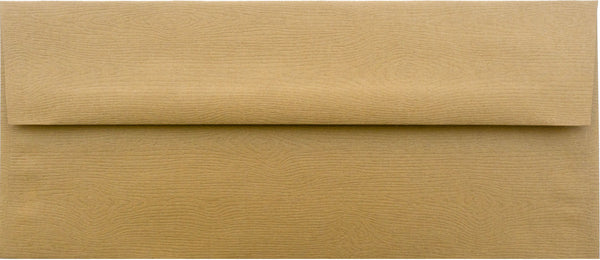 #10 Tindalo Brown Embossed Wood Grain Envelopes (4 1/8