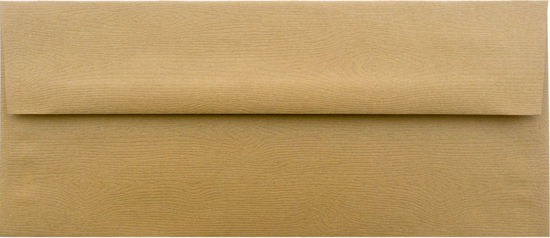 "#10 Tindalo Brown Embossed Wood Grain Envelopes (4 1/8"" x 9 1/2"") - Paperandmore.com"