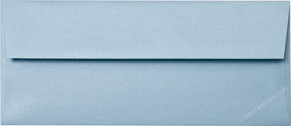 "#10 Topaz Blue Metallic Envelopes (4 1/8"" x 9 1/2"") - Paperandmore.com"