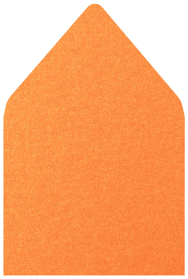 A-7.5 Orange Flame Metallic - Euro Flap Envelope Liner