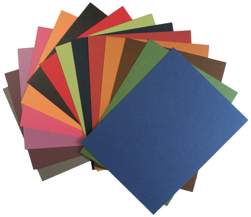 Pearlescent Metallic Dark Card Stock Sampler Pack - Paperandmore.com