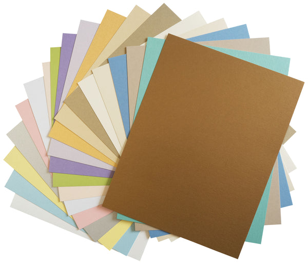 Pearlescent Metallic Light Card Stock Sampler Pack - Paperandmore.com