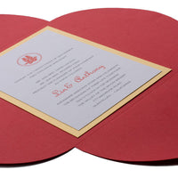"Burgundy Solid Petal Card 80#, 5 1/8"" x 7"""