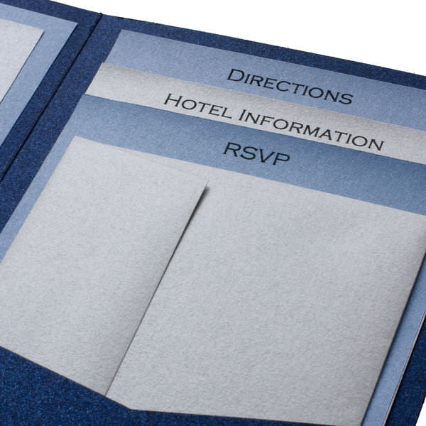 A7 Himalaya Warm White Felt Pocket Folder