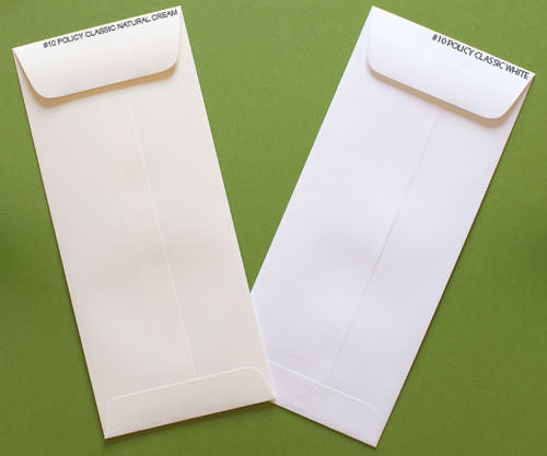 "#10 Policy Classic Natural Cream Solid Envelopes (4 1/8"" x 9 1/2"") - Paperandmore.com"