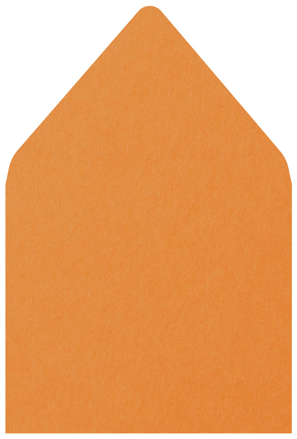 A-7.5 Pumpkin Orange Solid - Euro Flap Envelope Liner