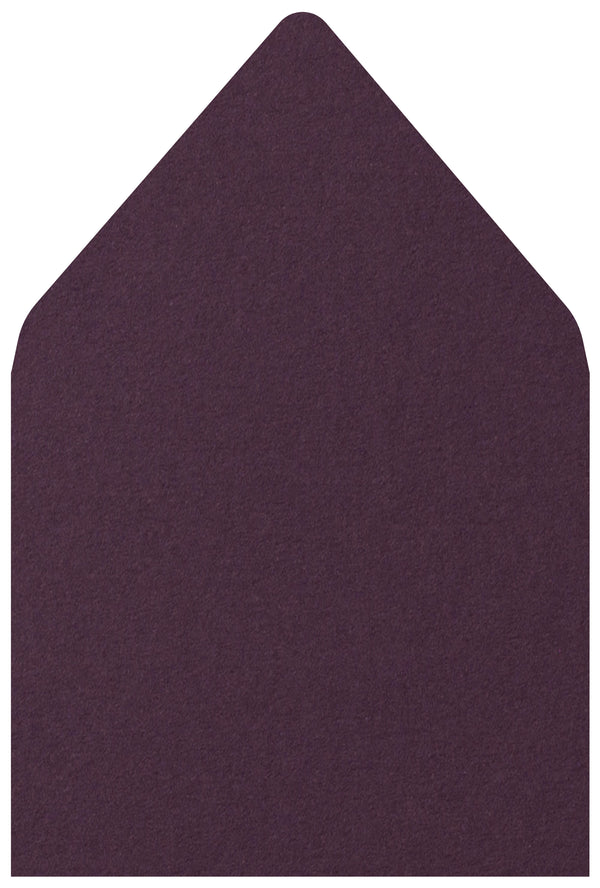 A-7.5 Purple Eggplant Solid - Euro Flap Envelope Liner