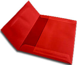 "A-7 Red Translucent Vellum Envelopes (5 1/4"" x 7 1/4"") - Paperandmore.com"