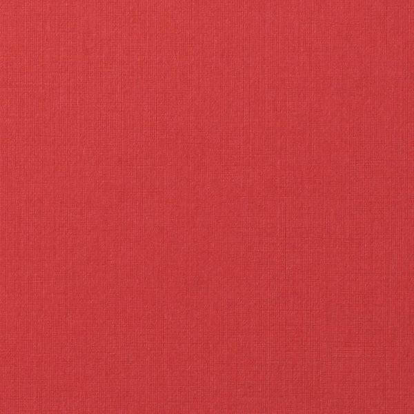 Red Pepper Linen Invitation Card, A9 Folded