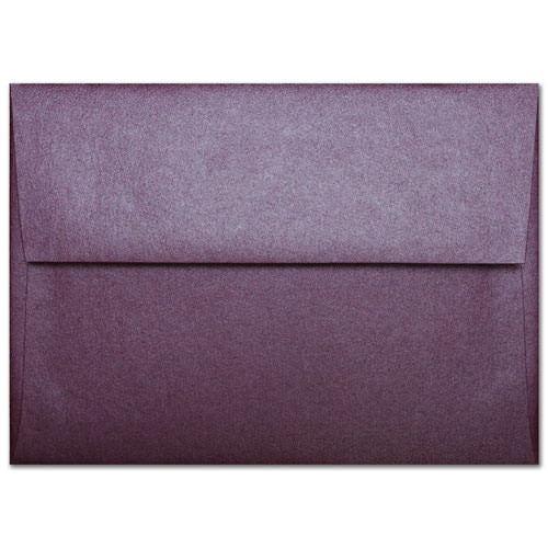 "A-9 Ruby Purple Metallic Envelopes (5 3/4"" x 8 3/4"") - Paperandmore.com"