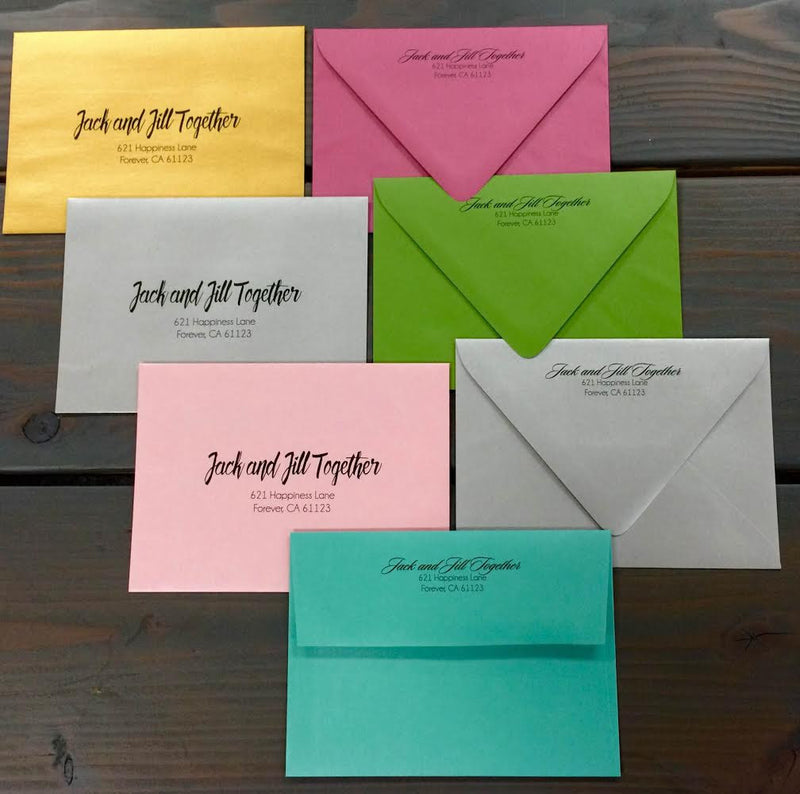 A-7-5 Euro Flap Envelopes - Address Printing - Paperandmore.com