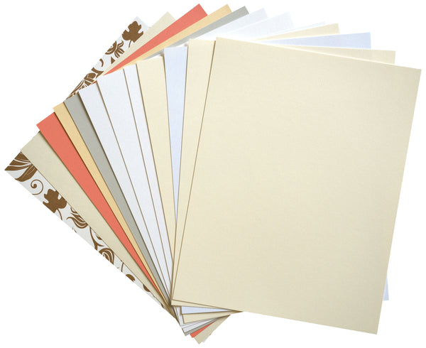 Solid Light Card Stock Sampler Pack - Paperandmore.com