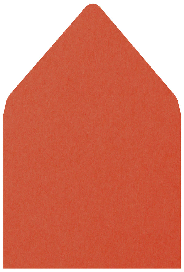 A-7.5 Sunset Orange Solid - Euro Flap Envelope Liner