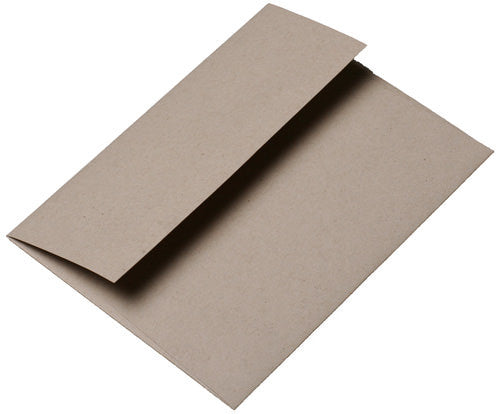 "A-7 Taupe Brown Fiber Recycled Envelopes (5 1/4"" x 7 1/4"") - Paperandmore.com"