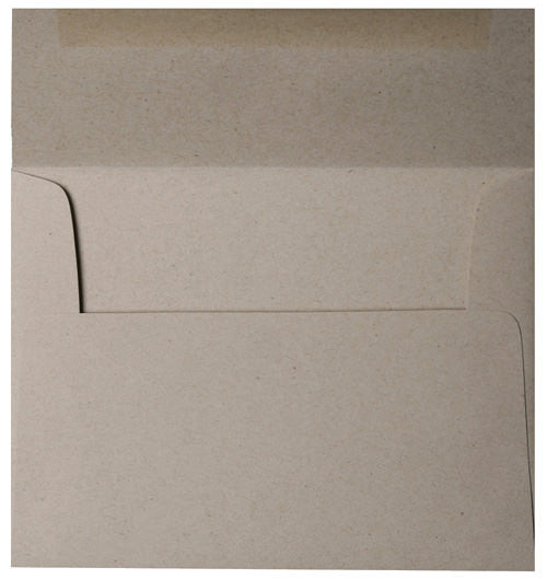 "6 1/2"" Square Taupe Brown Recycled Envelopes (6 1/2"" x 6 1/2"")"