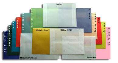 "6"" x 9"" Booklet Metallic Light Gold Translucent Vellum Envelopes - Paperandmore.com"