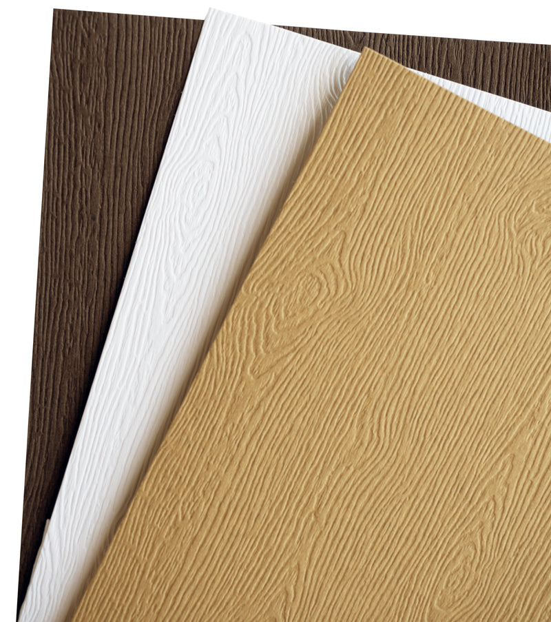 "Limba White Embossed Wood Grain Paper 68# Text, 8 1/2"" x 11"" - Paperandmore.com"