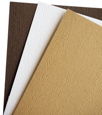 Limba White Embossed Wood Grain Pocket Invitation Card, A7 Himalaya