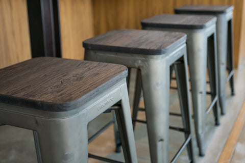Wood Top Bar Stool