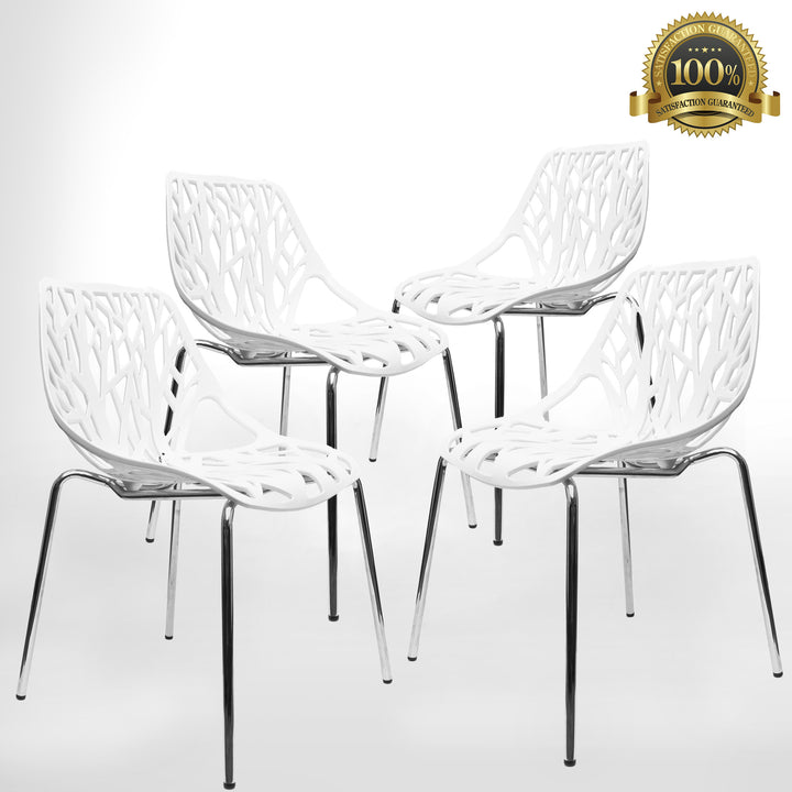 Birch Sapling Chair White Set Of Four Urbanmod