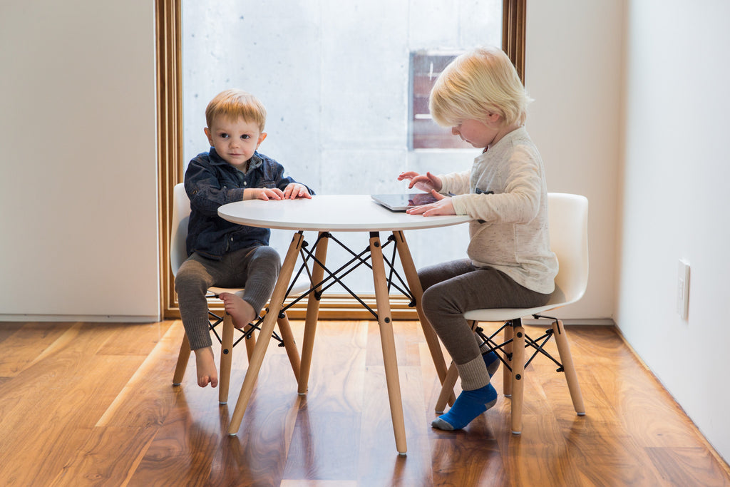Kid's Eames Style Table & Chairs Set