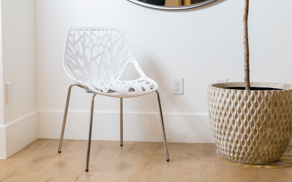 Birch Sapling Chair | White | Set of Two