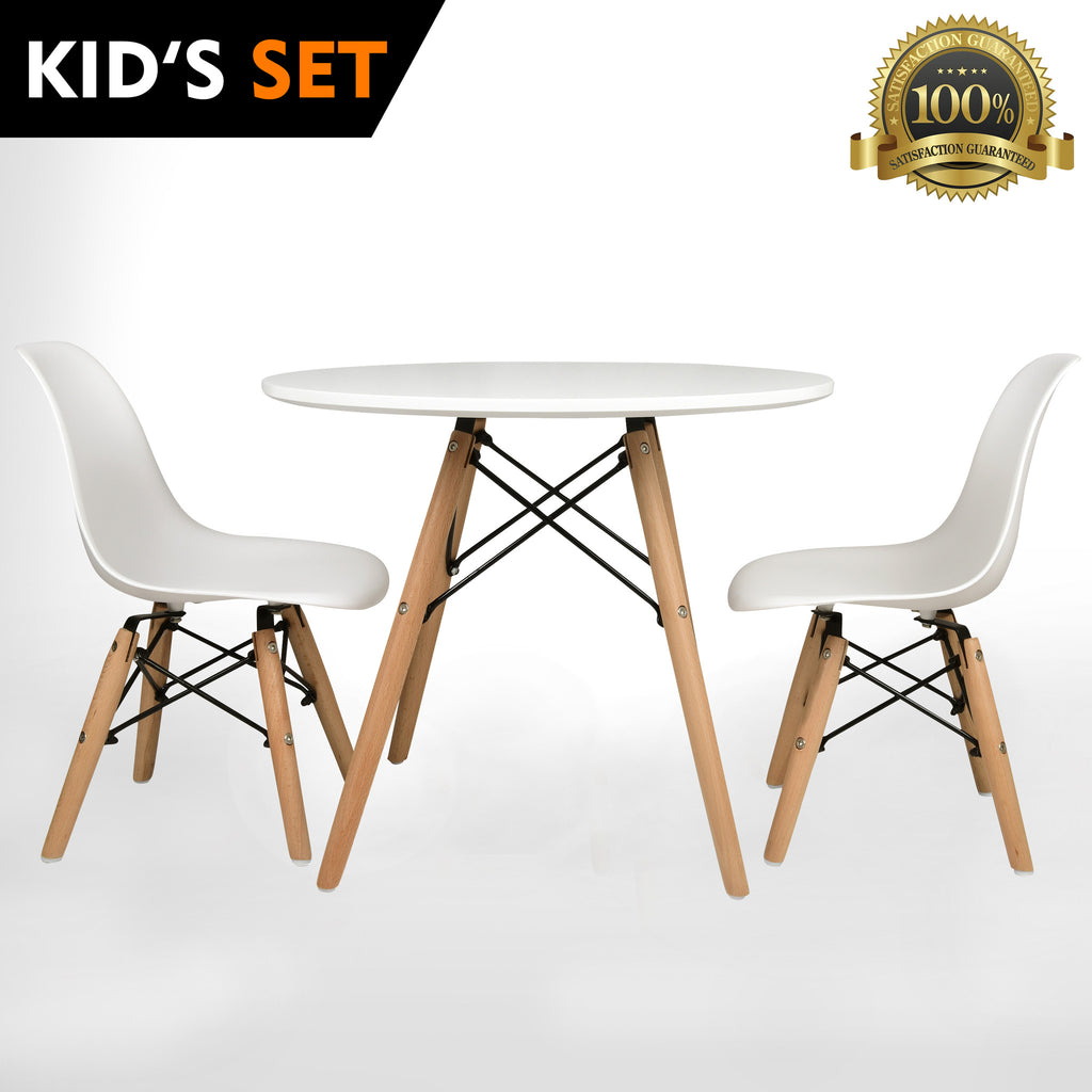 Picture of: Urbanmod Kids Eames Style Modern White Table Set