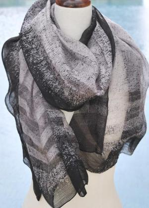 Black_Border_Stripe_Silk_Scarf_Quintess_Trading