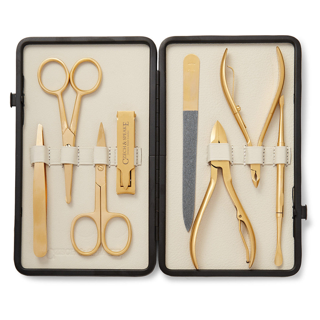 Leather-Bound Manicure Set