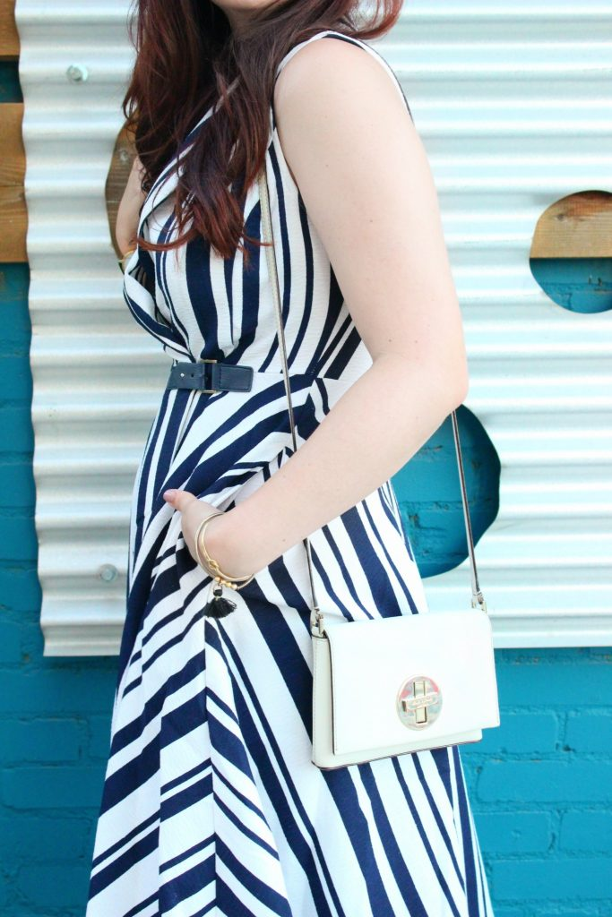 Striped Pocket Dress and Blue Wall - 5