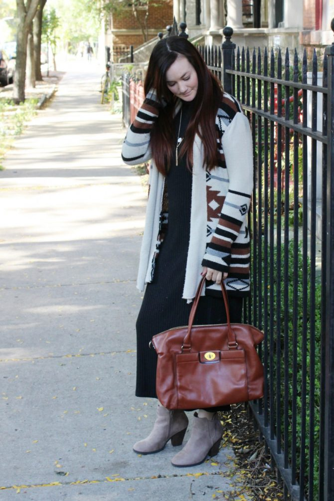 black-cable-maxi-and-southwestern-sweater-3