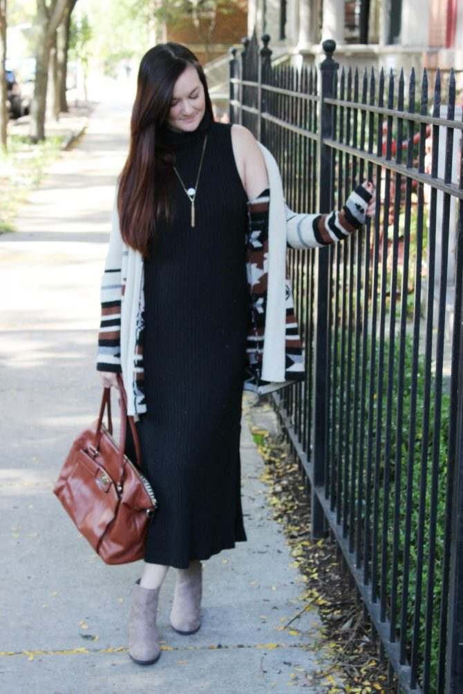black-cable-maxi-and-southwestern-sweater-4