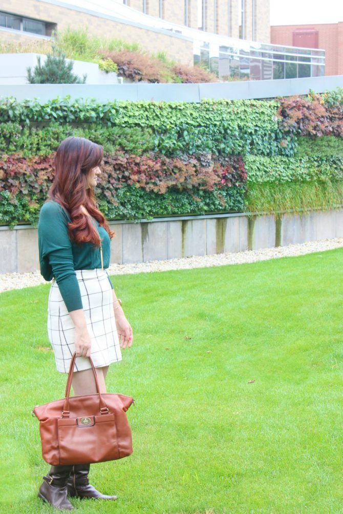 green-sweater-and-plaid-skirt-2