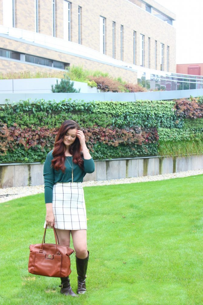 green-sweater-and-plaid-skirt-5