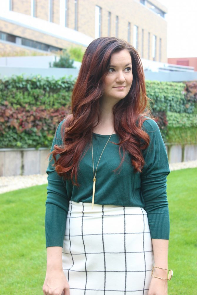 green-sweater-and-plaid-skirt-7