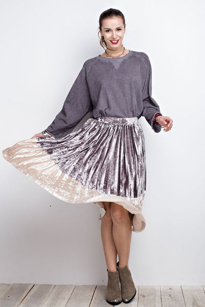 Shine Bright Pleated Midi Skirt