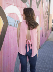 Hazel Sleeveless Bow Top